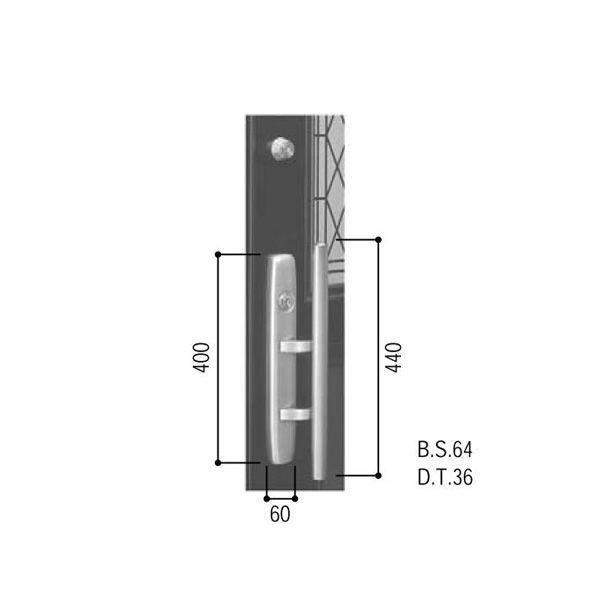 【YKKAPメンテナンス部品】プッシュプル錠セット(HH-J-0509U9) DIY リフォーム