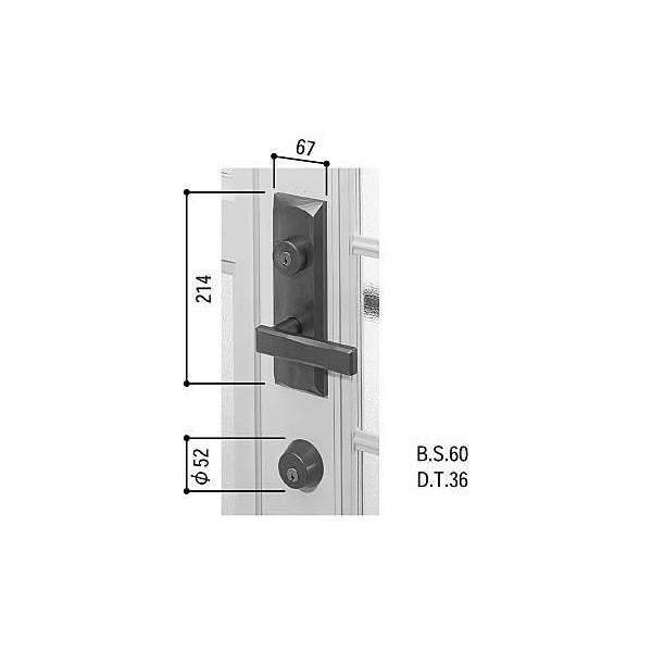 【YKKAPメンテナンス部品】レバーハンドル錠セット(HH-J-0515) DIY リフォーム