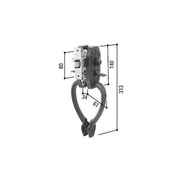 【YKKAPメンテナンス部品】サムラッチハンドル錠セット(HH-K-10735) DIY リフォーム