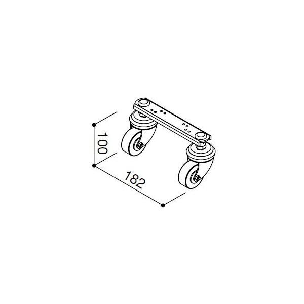 【YKKAPメンテナンス部品】Wキャスター(HHK1-4610) DIY リフォーム