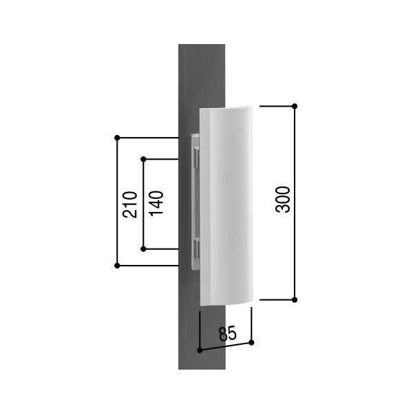 【YKKAPメンテナンス部品】プッシュプルハンドル・ケース(KAG-H-102-TD) DIY リフォーム