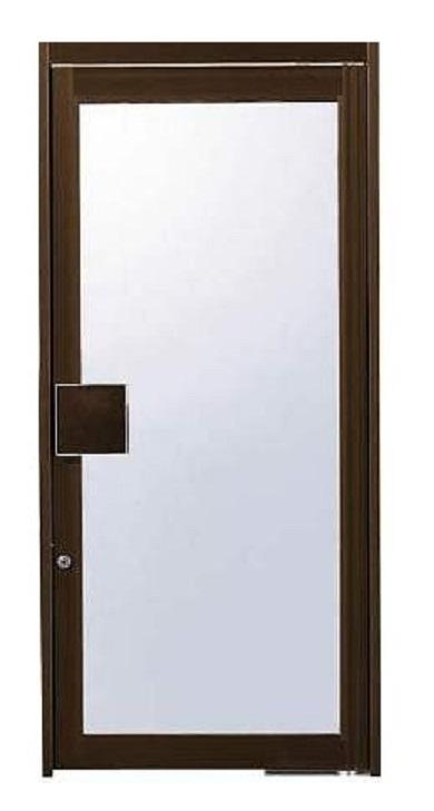 店舗ドアDX 片開き ランマなし 全面ガラスドア 押板把手仕様 W:900mm × H:2,000mm 単板ガラス仕様 自由開き戸 YKK AP
