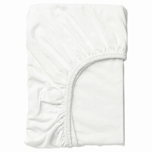 送料無料 IKEA イケア ベビー ベット オーバーのアイテム取扱☆ 寝具カバー LEN ホワイト 白 ボックスシーツ 60169067 春の新作シューズ満載 70x160cm
