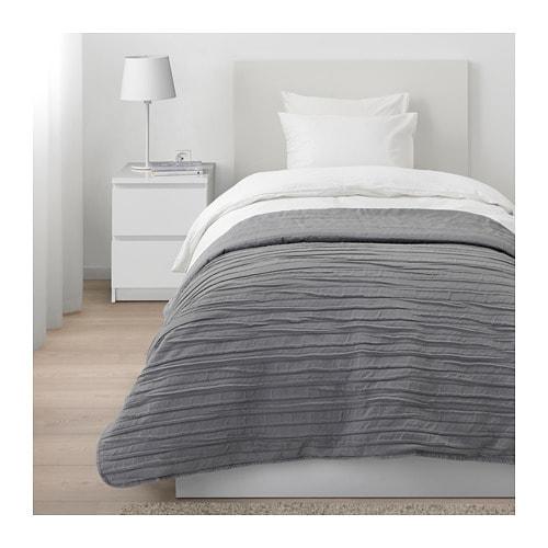 IKEA イケア ベッドカバー シングル グレー 250cmx160cm VEKETAG z70381949