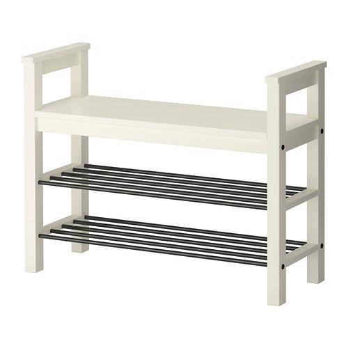輝い IKEA(イケア) IKEA(イケア) ホワイト HEMNES ベンチ ベンチ 靴収納付き ホワイト d40243799, 北海道の味覚 北彩庵:cb24b508 --- supercanaltv.zonalivresh.dominiotemporario.com