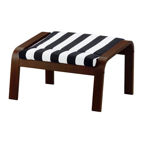 IKEA(イケア) POANG フットスツール ブラウン ステンリ ブラック ホワイト E49181339