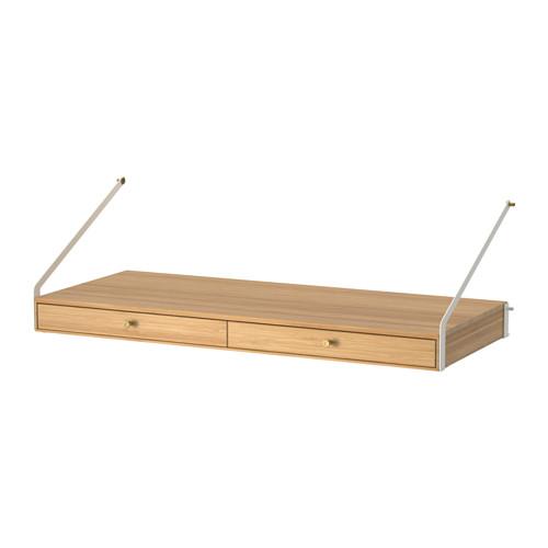 IKEA イケア SVALNAS デスクスペース(引き出し×2) 竹 E60322875