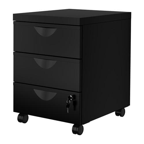 IKEA(イケア) ERIK エリック 引き出しユニット(引き出し×3) キャスター付き ブラック z00341004