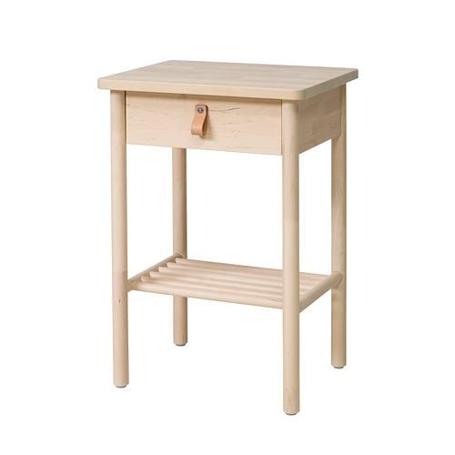 IKEA イケア BJORKSNAS ビョルクスネース ベッドサイドテーブル バーチ z50407361