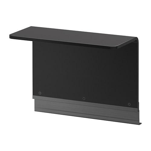 IKEA イケア DELAKTIG サイドテーブル フレーム用 ブラック 47x22 cm z80386098