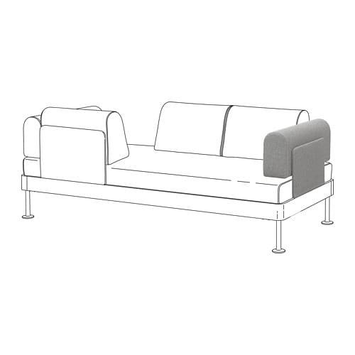 IKEA(イケア) DELAKTIG デラクティグ アームレスト クッション付き タルミーラ ホワイト/ブラック z99259953