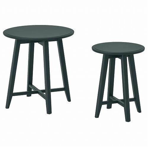 IKEA イケア ネストテーブル2点セット ダークブルーグリーン n50452594 KRAGSTA