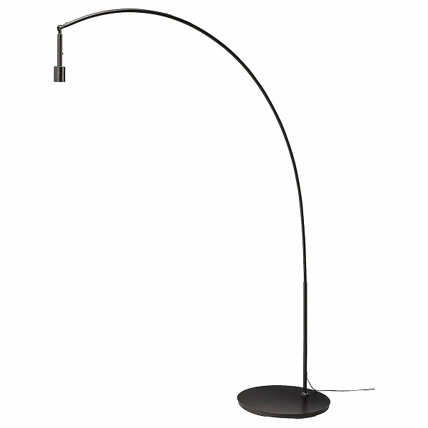 送料無料 海外 IKEA イケア 照明 LED フロアライト ベース アーチ型 SKAFTET n30405527 フロアランプベース 黒 出荷 ブラック
