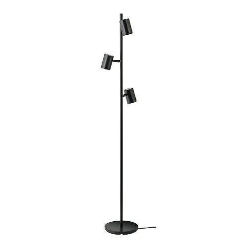 送料無料 IKEA 日本製 イケア 照明 フロアスタンド ライト チャコール NYMANE m90477738 3スポット フロアランプ お得セット