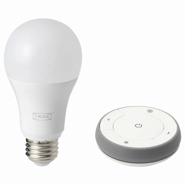 送料無料 IKEA イケア 照明 ライト LED 電球 光色切替えタイプ TRADFRI n40406550 省エネ お気に入り リモコンキット 入手困難 E26