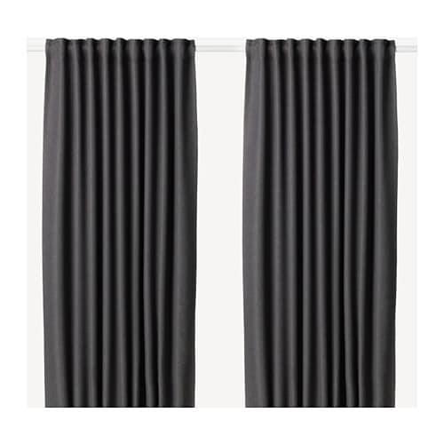 IKEA(イケア) ANNAKAJSA アンナカイサ 遮光カーテン1組 グレー z80390241