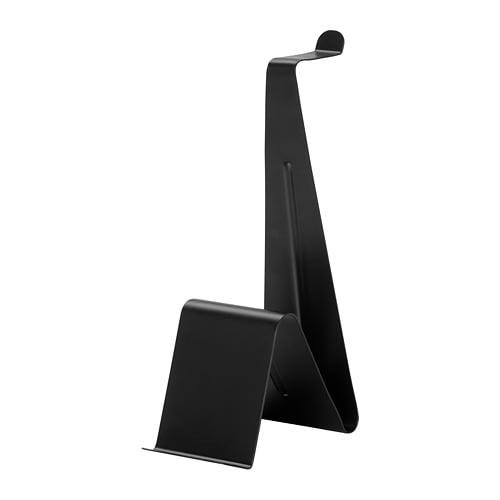テレビで話題 送料無料 お洒落 IKEA イケア オフィス タブレット用スタンド ヘッドホン n80434278 黒 タブレット MOJLIGHET スタンド ブラック