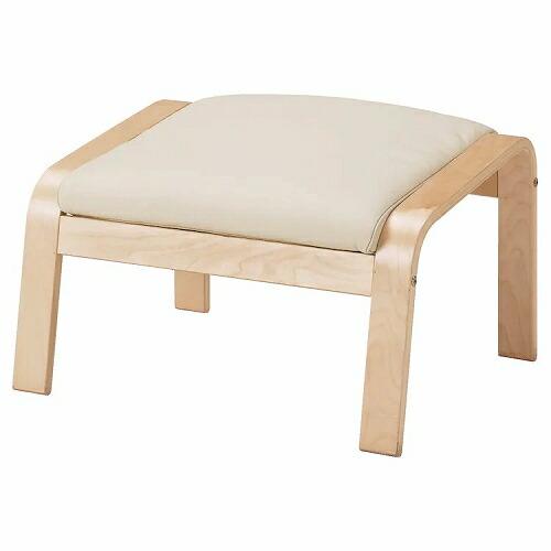 IKEA イケア フットスツールクッション グローセ ロブスト エッグシェル 53x60x7cm c60170476 【クッションのみ】POANG