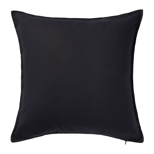 送料無料 IKEA イケア 記念日 クッション マット クッションカバー 50x50cm 60281139 ブラック GURLI 黒 新登場