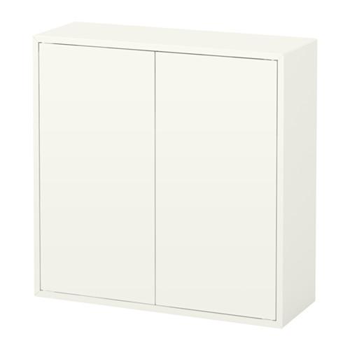 IKEA(イケア) EKET キャビネット 扉2/棚板2付き ホワイト b10334606