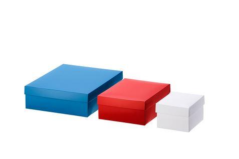 送料無料/IKEA イケア ラッピング 包装 ギフトボックス IKEA イケア VINTER 2019 2019 ギフトボックス3個セット ホワイト レッド ブルー n90434555