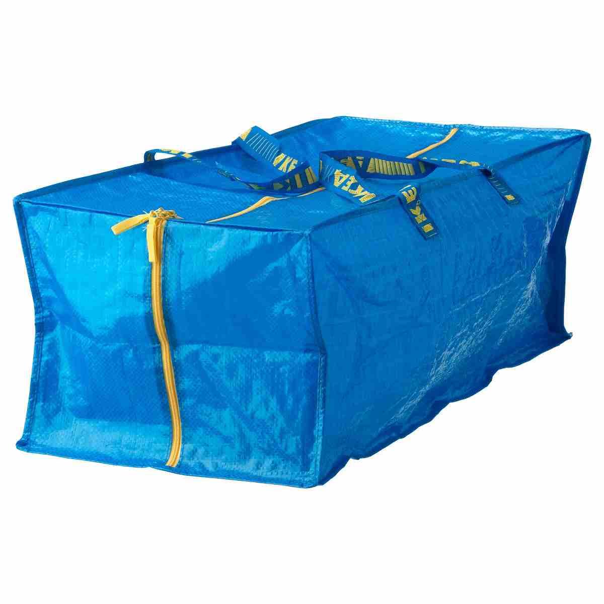 送料無料 IKEA イケア 雑貨 収納 お金を節約 お買い物 エコバッグ A90161989 高級な 青 ブルー FRAKTA トロリー用バッグ