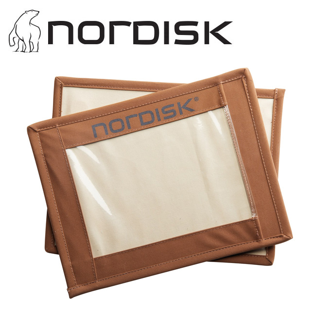 ★ NORDISK ノルディスク Name Boards (2 Pieces) Chocolate 148091 【ネームボード/テント雑貨/キャンプ/アウトドア】