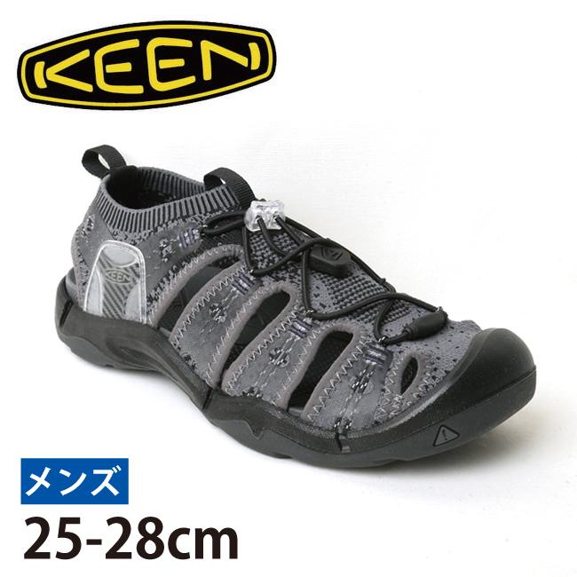 ★ キーン KEEN EVOFIT 1 エヴォフィットワン HEATHERED BLACK/MAGNET 1021390 【アウトドア/メンズ/サンダル】
