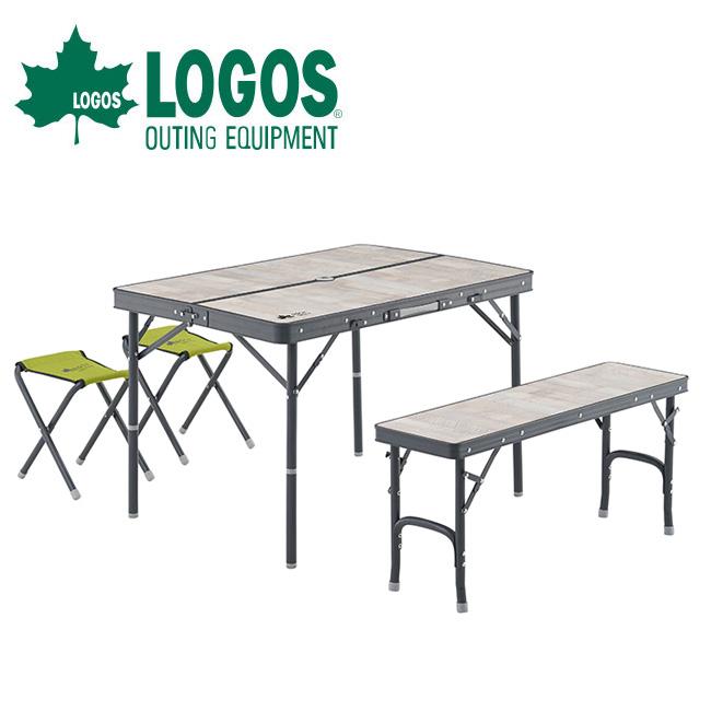 LOGOS ロゴス ROSY ファミリーベンチテーブルセット 73189057 【テーブルセット/ベンチ/アウトドア/キャンプ】