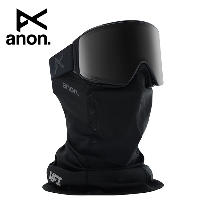 2020 anon アノン M4 Cylindrical Snapback Goggle Asian Fit With Bonus Lens /Smoke / SONAR Smoke 215051 【スぺアレンズ/ゴーグル/日本正規品/メンズ】