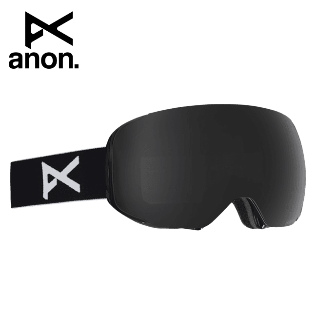 2020 anon アノン M2 Goggle Asian Fit With Polarized Lens + Bonus Lens /Black / Polar Smoke 194151 【スぺアレンズ/ゴーグル/日本正規品/メンズ】