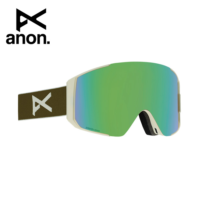 2020 anon アノン Men's Sync Goggle Asian Fit With Bonus Lens /Olive / SONAR Green 215081 【スぺアレンズ/ゴーグル/日本正規品/メンズ】