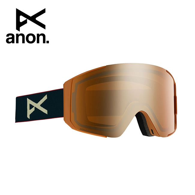 2020 anon アノン Men's Sync Goggle Asian Fit With Bonus Lens /Royal / SONAR Bronze 215081 【スぺアレンズ/ゴーグル/日本正規品/メンズ】