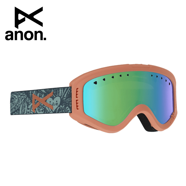2020 anon アノン Tracker Goggle Asian Fit Tangle / Green Amber 185261 【スぺアレンズ/ゴーグル/日本正規品/キッズ/ジュニア】