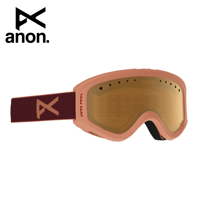 2020 anon アノン Tracker Goggle Asian Fit Coral / Amber 185261 【スぺアレンズ/ゴーグル/日本正規品/キッズ/ジュニア】