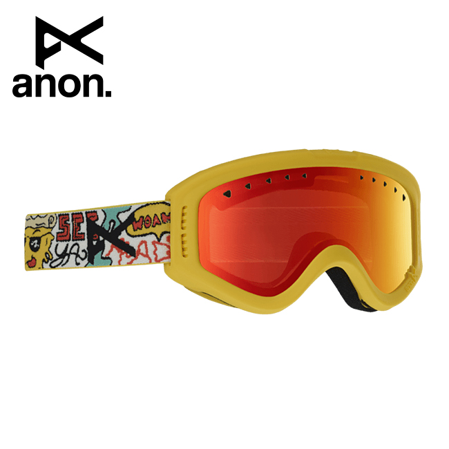 2020 anon アノン Tracker Goggle Asian Fit Pizza / Red Amber 185261 【スぺアレンズ/ゴーグル/日本正規品/キッズ/ジュニア】