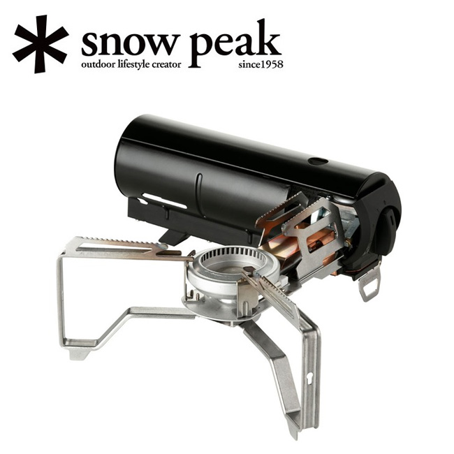 ★ snowpeak スノーピーク HOME&CAMP ホームアンドキャンプ バーナー ブラック GS-600BK 【卓上ガスコンロ/アウトドア/キャンプ】