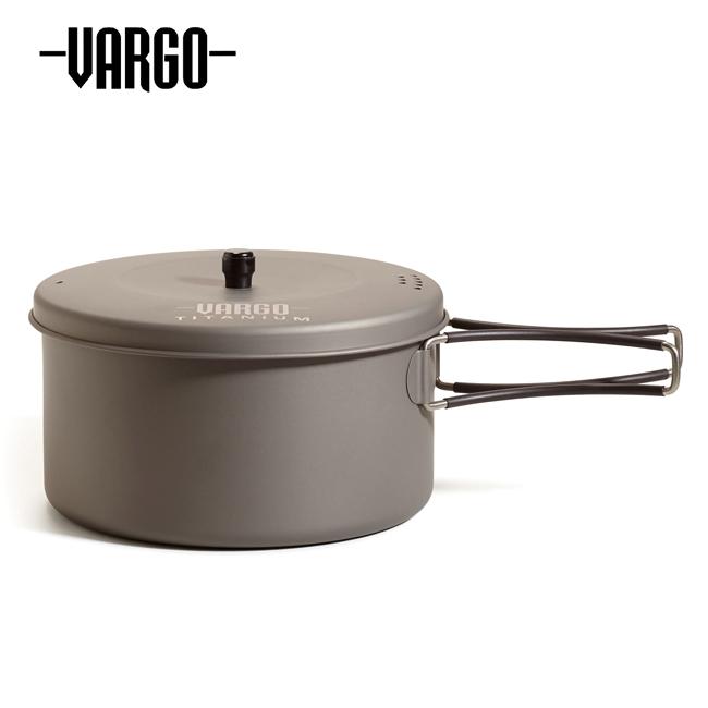 ★ VARGO バーゴ 1.3Lチタニウムポット T-426 【ポット/クッカー/アウトドア/キャンプ】
