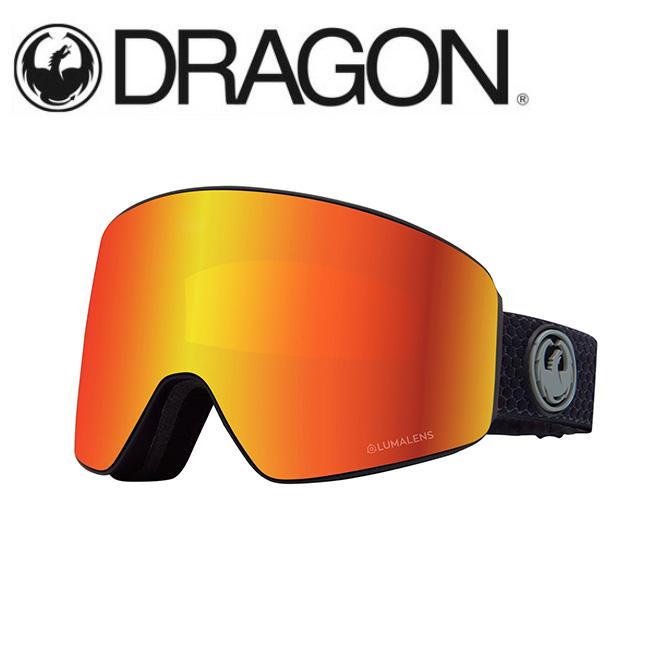 DRAGON ドラゴン PXV SPLIT GREY/LUMALENS J. RED ION 【2020/ゴーグル/日本正規品/ジャパンフィット】