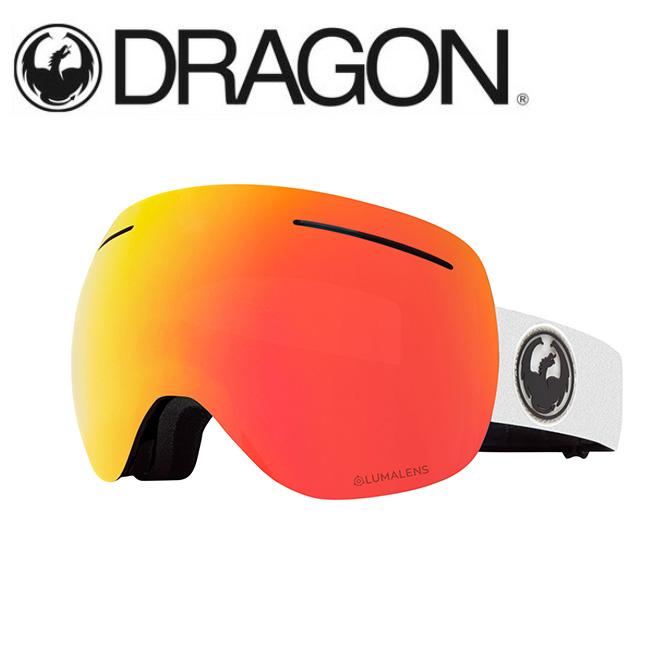 DRAGON ドラゴン X1 WHITE/LUMALENS J. RED ION 【2020/ゴーグル/日本正規品/ジャパンフィット】