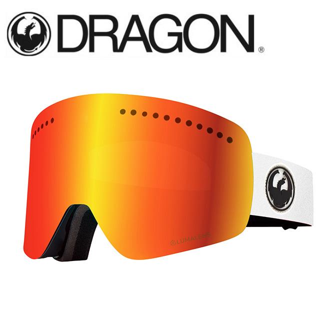 DRAGON ドラゴン NFX WHITE/LUMALENS J. RED ION 【2020/ゴーグル/日本正規品/ジャパンフィット】