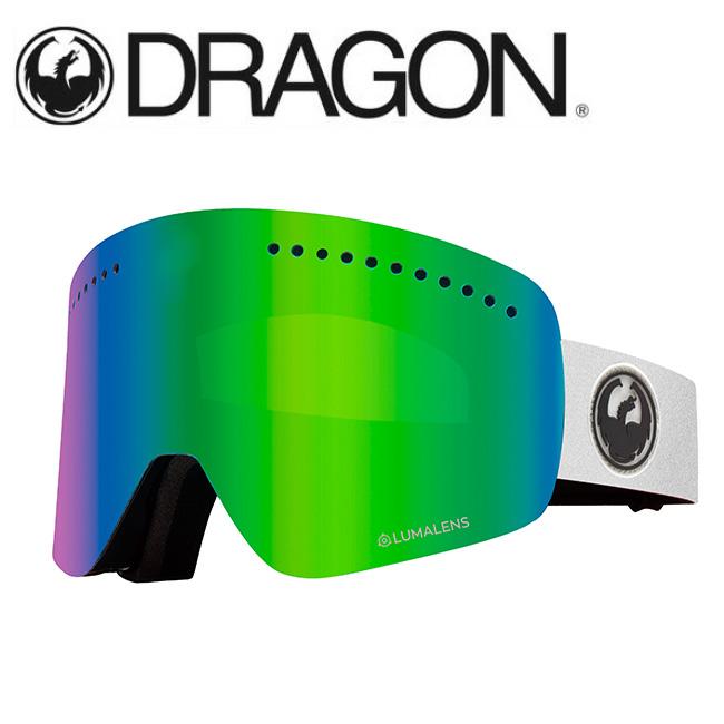 DRAGON ドラゴン NFX WHITE/LUMALENS J. GREEN ION 【2020/ゴーグル/日本正規品/ジャパンフィット】