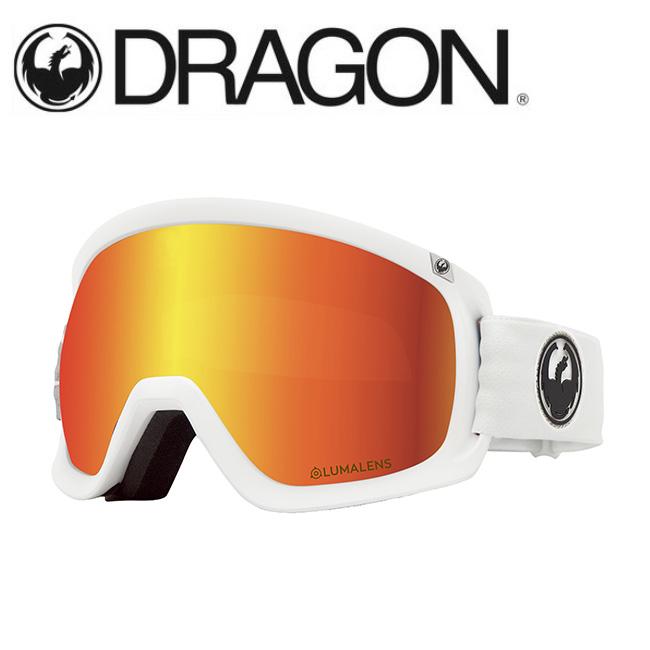 DRAGON ドラゴン D3 WHITE/LUMALENS J. RED ION 【2020/ゴーグル/日本正規品/ジャパンフィット】