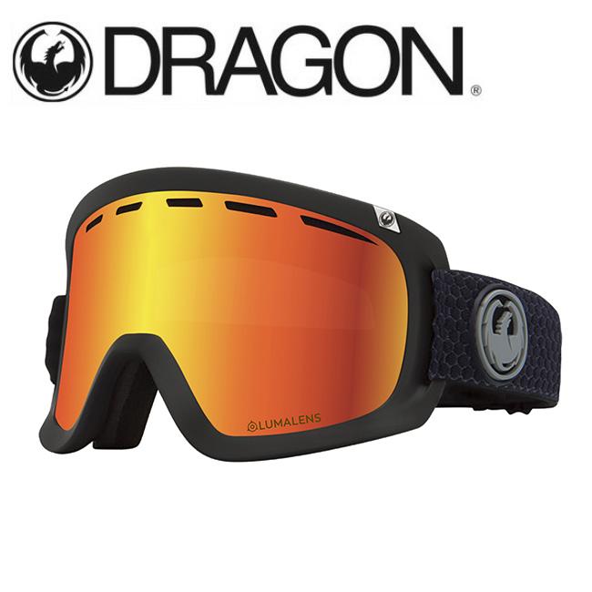 DRAGON ドラゴン D1 SPLIT GREY/LUMALENS J. RED ION 【2020/ゴーグル/日本正規品/ジャパンフィット】
