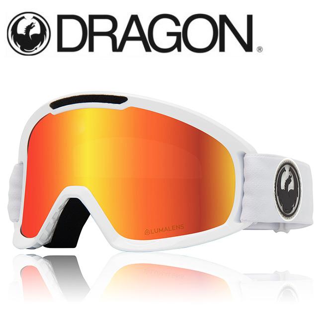 DRAGON ドラゴン DX2 WHITE/LUMALENS J. RED ION 【2020/ゴーグル/日本正規品/ジャパンフィット】