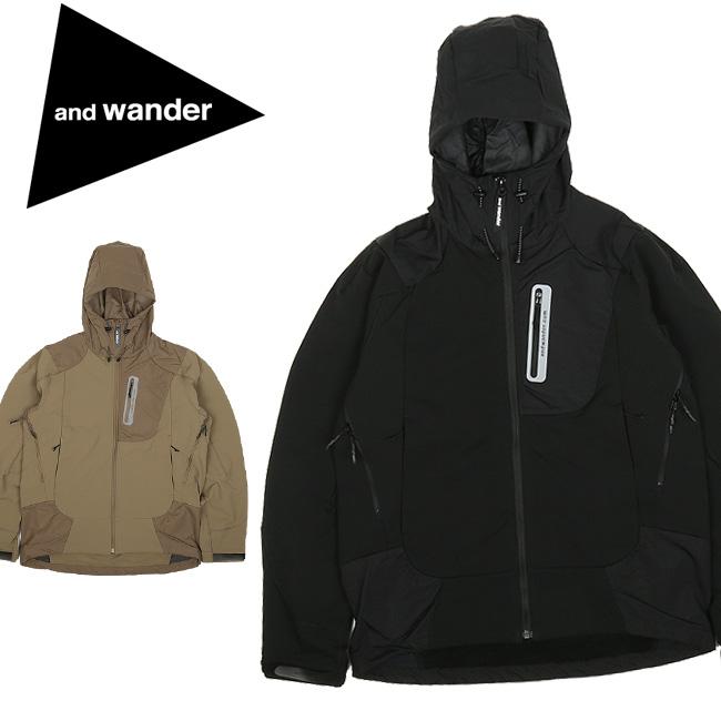★ and wander アンドワンダー stretch shell jacket ストレッチシェルジャケット AW93-FT001 【アウター/メンズ/おしゃれ/アウトドア】