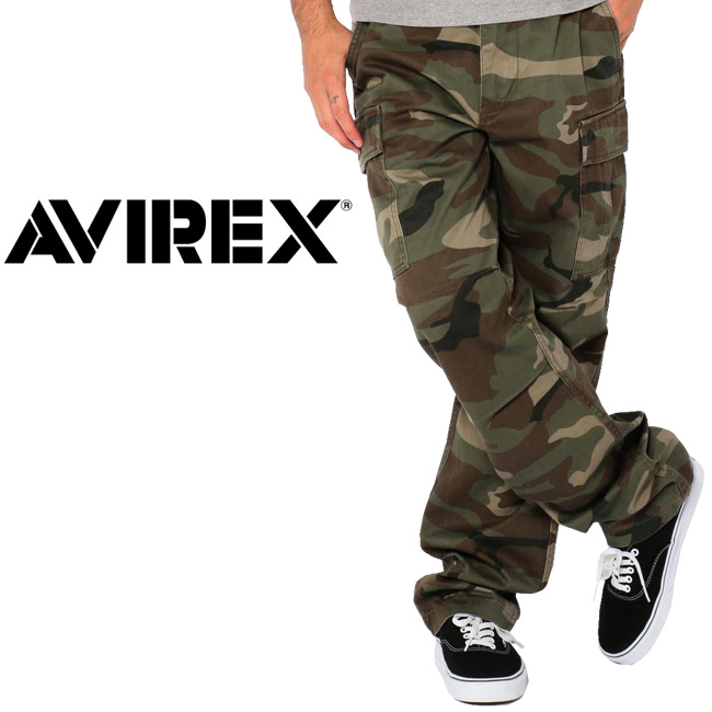 AVIREX アヴィレックス CAMOUFLAGE FATIGUE PANTS カモフラージュファティーグパンツ 6166111 【ズボン/ボトムス/アウトドア/迷彩】