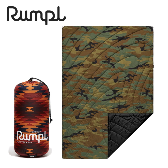 Rumpl ランプル ORIGINAL PUFFY BLANKET PRINTS 3 オリジナルパフィーブランケットプリント 3IP-RMP-193006 【アウトドア/キャンプ/掛け布団/車中泊/膝掛/迷彩】