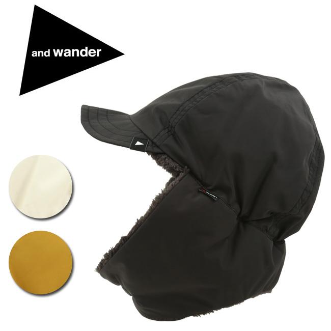 ★ and wander アンドワンダー high loft fleece ear cap ハイロフトフリースイヤーキャップ AW93-AA633 【アウトドア/防寒/おしゃれ/リバーシブル】
