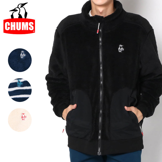 CHUMS チャムス Elmo Fleece Full Zip Jacket エルモフリースフルジップジャケット CH04-1165 【長袖/フード/アウトドア/もこもこ】